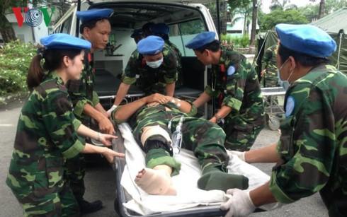 Bệnh viện dã chiến cấp 2 Việt Nam sẵn sàng nhận nhiệm vụ ở Phái bộ Liên hợp quốc tại Nam Sudan - ảnh 1