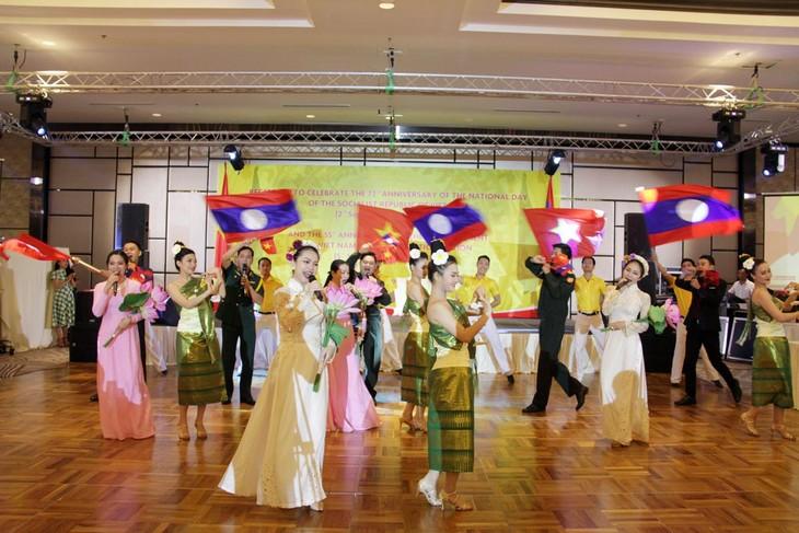 Kỷ niệm 72 năm Quốc khánh Việt Nam và 55 năm ngày thiết lập quan hệ ngoại giao Việt Nam - Lào - ảnh 1
