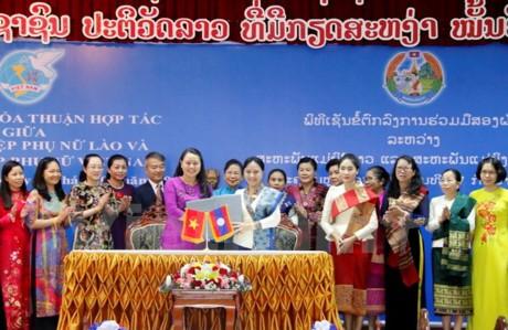 Hội liên hiệp Phụ nữ Việt Nam-Lào tăng cường hợp tác - ảnh 1