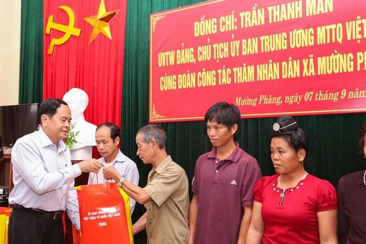 Chủ tịch Ủy ban Trung ương MTTQ thăm đồng bào bị ảnh hưởng do mưa lũ tại tỉnh Điện Biên - ảnh 1