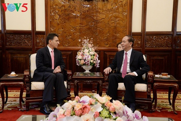Chủ tịch nước Trần Đại Quang tiếp các Đại sứ trình Quốc thư - ảnh 3