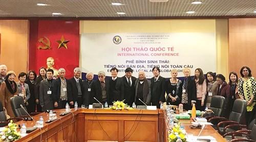 Lần đầu tiên hội thảo khoa học quốc tế về phê bình sinh thái tổ chức tại Việt Nam  - ảnh 1
