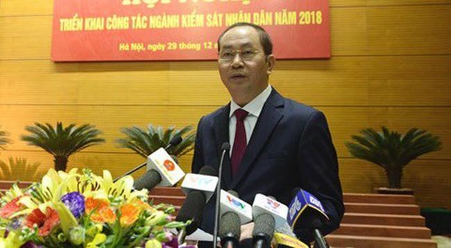 Chủ tịch nước Trần Đại Quang dự hội nghị triển khai công tác của ngành kiểm sát năm 2018 - ảnh 1