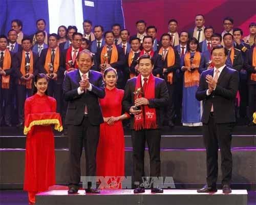Trao Giải thưởng Sao đỏ - Doanh nhân trẻ Việt Nam tiêu biểu năm 2017  - ảnh 1