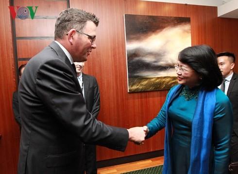 Phó Chủ tịch nước Đặng Thị Ngọc Thịnh gặp song phương lãnh đạo bang Victoria (Australia) - ảnh 2