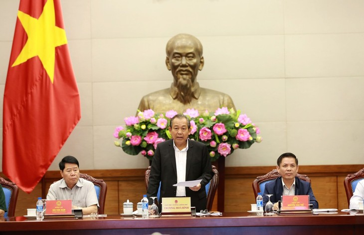 Phó Thủ tướng Trương Hòa Bình chủ trì hội nghị an ninh an toàn hàng không - ảnh 1