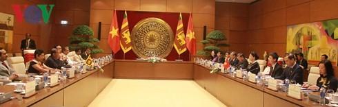 Chủ tịch Quốc hội Nguyễn Thị Kim Ngân hội đàm với Chủ tịch Quốc hội Sri Lanka - ảnh 2
