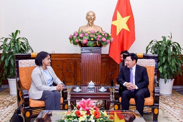 Phó thủ tướng, Bộ trưởng Ngoại giao Phạm Bình Minh tiếp Quốc vụ khanh Bộ Ngoại giao-Hợp tác QT Maroc - ảnh 1