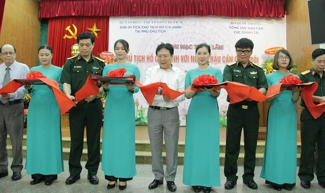 """Triển lãm """"Chủ tịch Hồ Chí Minh với ngành Hậu cần Quân đội"""" - ảnh 1"""