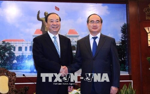 Lãnh đạo Thành phố Hồ Chí Minh tiếp Đoàn đại biểu Đảng Cộng sản Trung Quốc - ảnh 1
