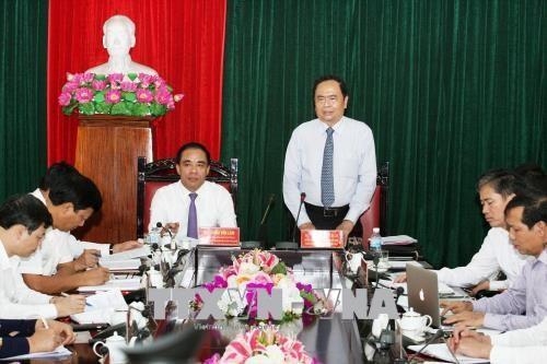Chủ tịch Ủy ban Trung ương Mặt trận Tổ quốc VN Trần Thanh Mẫn thăm, làm việc tại tỉnh Tuyên Quang - ảnh 1