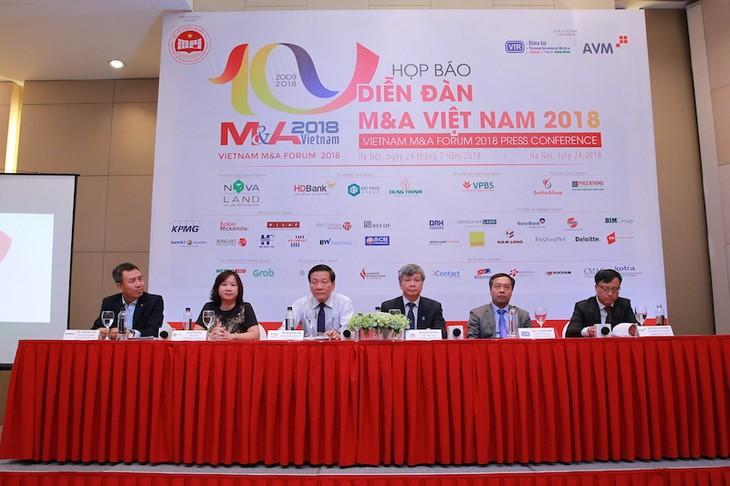 Họp báo Diễn đàn Mua bán- sáp nhập doanh nghiệp Việt Nam 2018 - ảnh 1