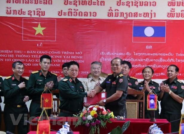 Quân đội Việt Nam giúp Quân đội Lào nâng cao chất lượng khám chữa bệnh từ xa - ảnh 1