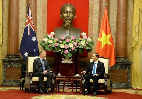 Chủ tịch nước Trần Đại Quang tiếp Chủ tịch Hạ viện Australia - ảnh 1