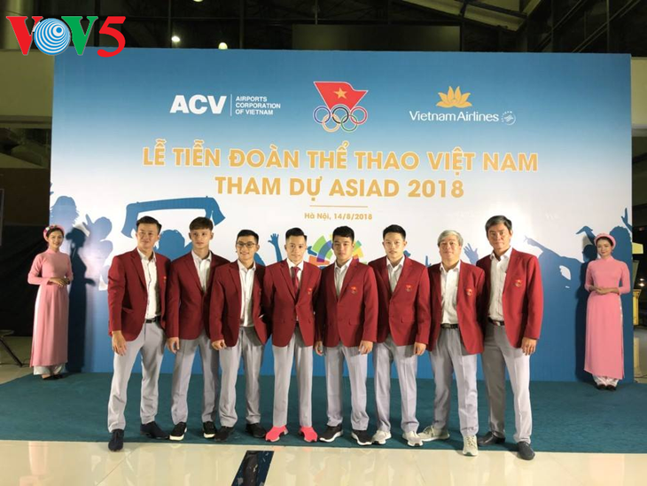 Lễ tiễn đoàn Thể thao Việt Nam lên đường dự ASIAD 2018 - ảnh 1