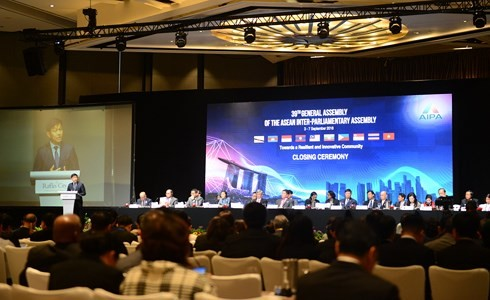 Bế mạc Đại hội đồng liên Nghị viện Đông Nam Á 39 - ảnh 1