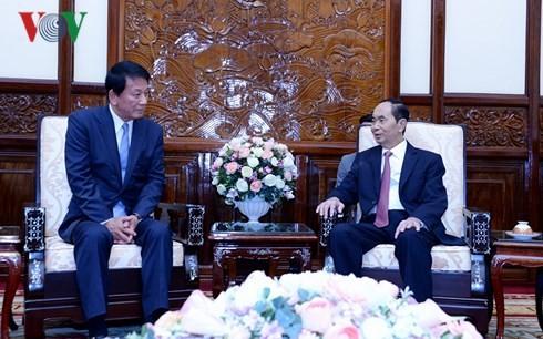 Chủ tịch nước Trần Đại Quang tiếp Đại sứ Đặc biệt Việt - Nhật - ảnh 1