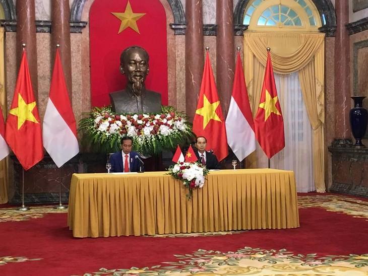Chủ tịch nước Trần Đại Quang hội đàm với Tổng thống Indonesia Joko Widodo - ảnh 1