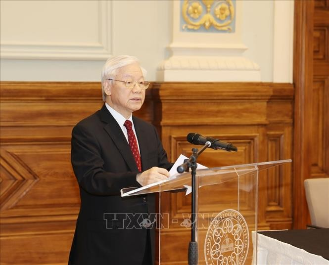 Tổng Bí thư Nguyễn Phú Trọng dự Hội nghị Hiệu trưởng các trường đại học Việt Nam – Hungary lần thứ II - ảnh 1