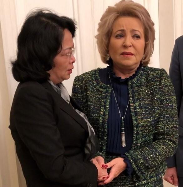 Phó Chủ tịch nước Đặng Thị Ngọc Thịnh gặp Chủ tịch Hội đồng Liên bang Quốc hội Liên bang Nga V. Matvienko - ảnh 1