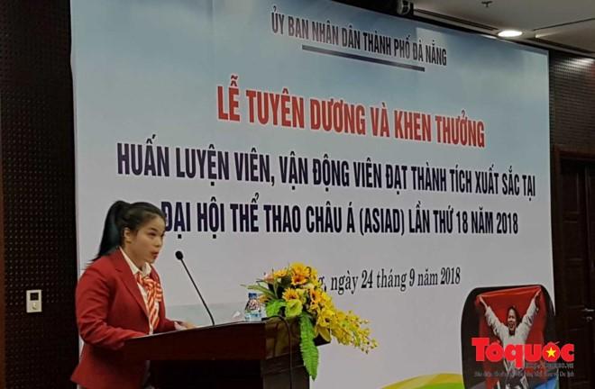 Đà Nẵng khen thưởng các huấn luyện viên, vận động viên tham dự ASIAD 18 - ảnh 1