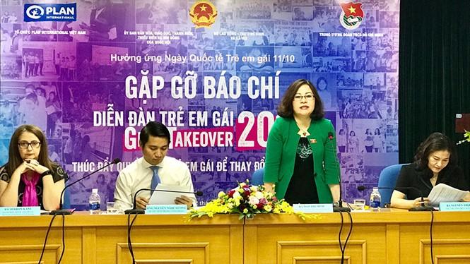 """100 trẻ em gái sẽ tham dự diễn đàn với chủ đề """"Thúc đẩy quyền của trẻ em gái để thay đổi và phát triển"""" - ảnh 1"""