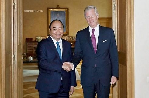 Thủ tướng Nguyễn Xuân Phúc hội kiến Nhà vua Bỉ - ảnh 1