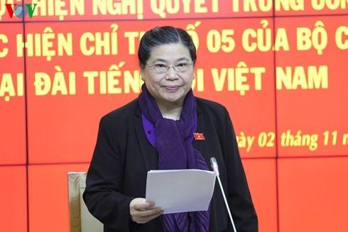 Phó Chủ tịch Quốc hội Tòng Thị Phóng làm việc với Đài Tiếng nói Việt Nam - ảnh 2
