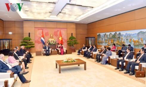 Chủ tịch Quốc hội Nguyễn Thị Kim Ngân hội kiến với Chủ tịch Hội đồng Nhà nước và Hội đồng Bộ trưởng Cuba Miguel Mario Diáz Canel Bermúdez - ảnh 2