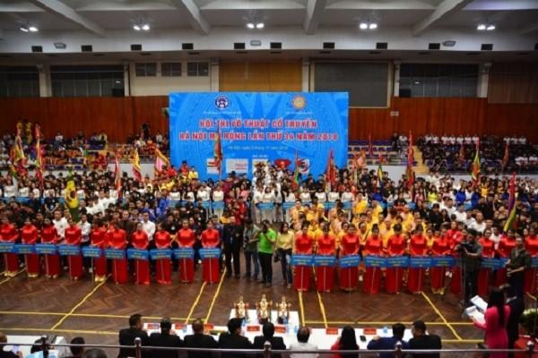 Khai mạc Hội thi võ thuật cổ truyền Hà Nội mở rộng lần thứ 34 - ảnh 1