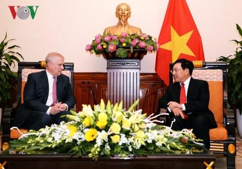 Phó Thủ tướng Phạm Bình Minh tiếp Công tước xứ York - ảnh 1