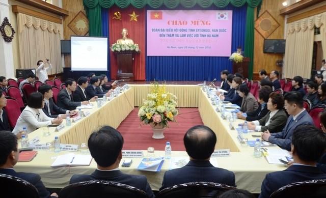 Tăng cường hợp tác giữa tỉnh Hà Nam và tỉnh Gyeonggi, Hàn Quốc - ảnh 1
