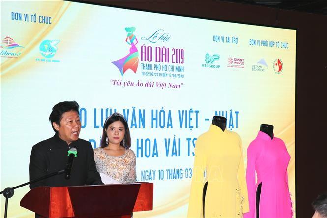 """Giao lưu văn hóa Việt Nam - Nhật Bản qua chương trình """"Áo dài và Hoa vải truyền thống Nhật Bản Tsumami""""  - ảnh 1"""