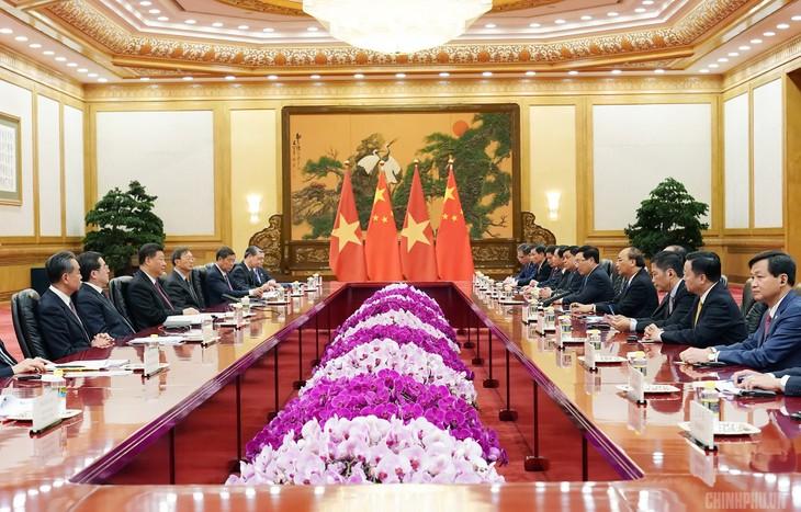 Thủ tướng Nguyễn Xuân Phúc hội kiến Tổng Bí thư, Chủ tịch Trung Quốc Tập Cận Bình - ảnh 2
