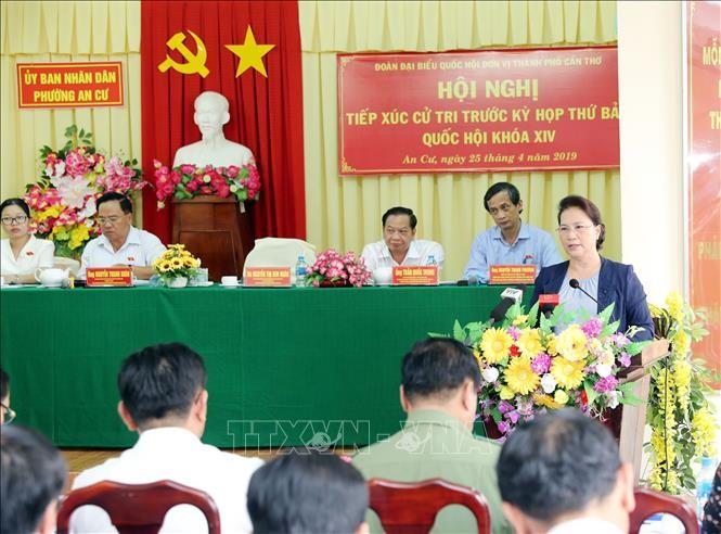 Chủ tịch Quốc hội tiếp xúc cử tri tại Quận Ninh Kiều, TP Cần Thơ - ảnh 1