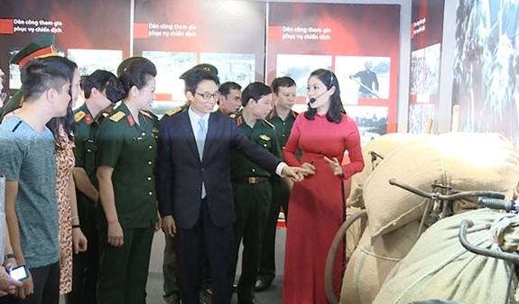 Khai mạc triển lãm Dân công hỏa tuyến trong chiến dịch Điện Biên Phủ - ảnh 1