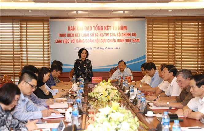 Trưởng Ban Dân vận Trung ương Trương Thị Mai: Tăng cường vai trò của Hội Cựu chiến binh trong công tác dân vận - ảnh 1