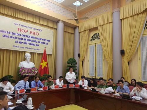 Công bố Lệnh của Chủ tịch nước về bảy luật vừa được Quốc hội thông qua - ảnh 1