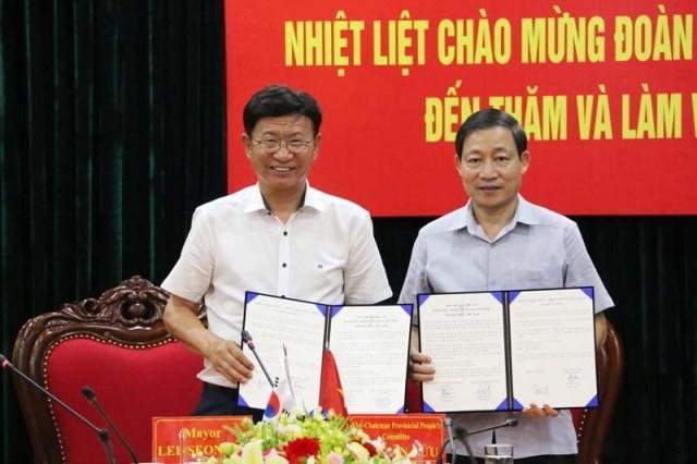 Tăng cường hợp tác giữa tỉnh Hòa Bình (Việt Nam) và quận Ulju (Hàn Quốc) - ảnh 1