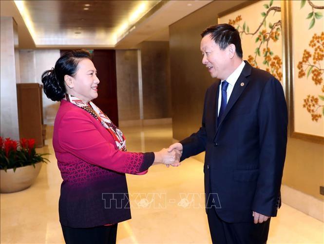 Chủ tịch Quốc hội Nguyễn Thị Kim Ngân tiếp Bí thư Thành ủy Tô Châu, Trung Quốc - ảnh 1