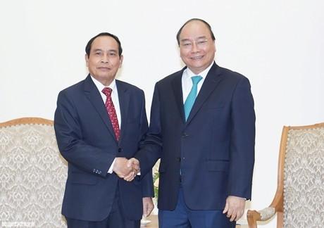 Thủ tướng Nguyễn Xuân Phúc tiếp Phó Thủ tướng Lào Bounthong Chithmany - ảnh 1