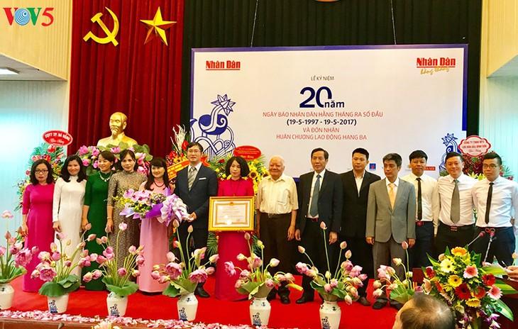 Kỷ niệm 20 năm Báo Nhân Dân Hằng tháng ra số đầu tiên - ảnh 8