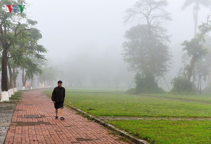 Breathtaking scenery of ancient Hue amid fog in late winter - ảnh 6