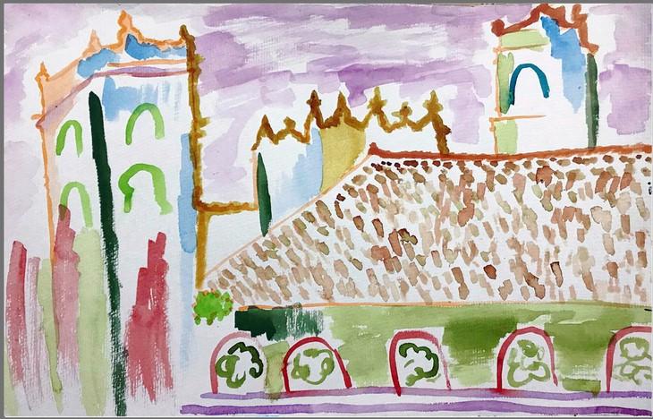 Giáo dân Bùi Chu 'phát hiện' nhà thờ của mình lộng lẫy trên... ký họa - ảnh 16