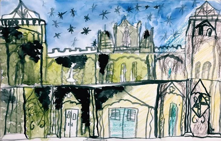 Giáo dân Bùi Chu 'phát hiện' nhà thờ của mình lộng lẫy trên... ký họa - ảnh 17