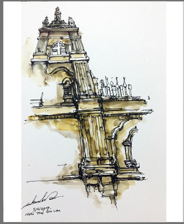 Giáo dân Bùi Chu 'phát hiện' nhà thờ của mình lộng lẫy trên... ký họa - ảnh 9