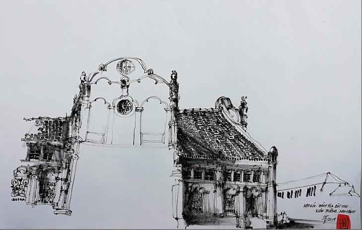Giáo dân Bùi Chu 'phát hiện' nhà thờ của mình lộng lẫy trên... ký họa - ảnh 10