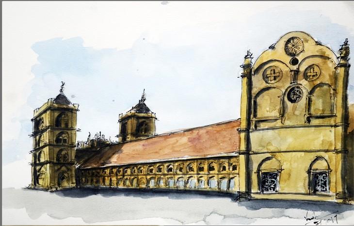 Giáo dân Bùi Chu 'phát hiện' nhà thờ của mình lộng lẫy trên... ký họa - ảnh 21