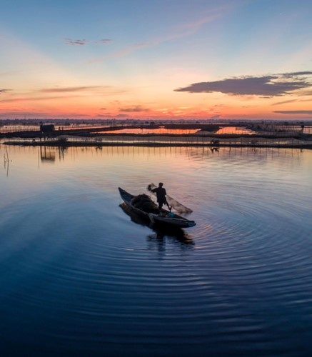 Discovering magnificent sunrise of Chuon lagoon in Thua Thien Hue - ảnh 3