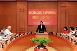 Presidente Truong Tan Sang presidió sesión de reforma judicial - ảnh 1